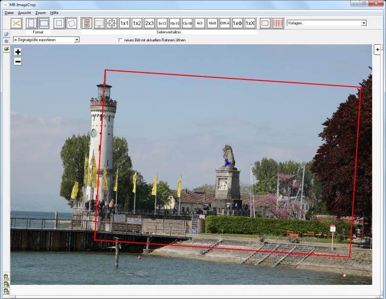 MB-ImageCrop - schräge Aufnahme - Rahmen drehen und positionieren
