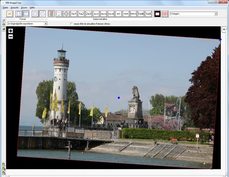MB-ImageCrop - schräge Aufnahme - Rahmen maximieren